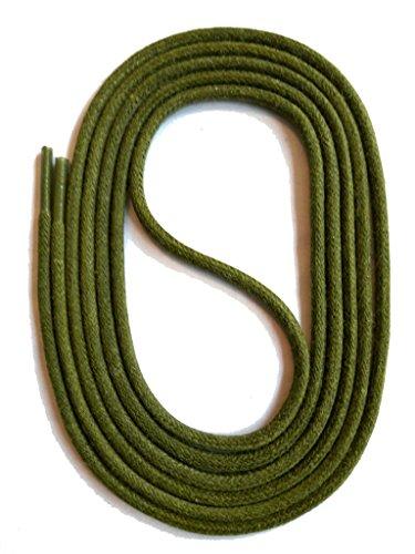 SNORS gewachste Schnürsenkel RUND KHAKI 130cm, 3mm, reißfest, Rundsenkel aus Baumwolle Made in Germany für Lederschuhe, Herrenschuhe, Business, Damenschuhe, Wildlederschuhe