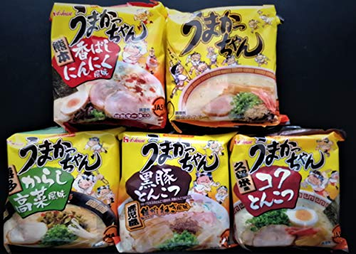 Japanese Instant Noodle Umakacchan Variety Pack 10 Servings (2 X 5flavor)