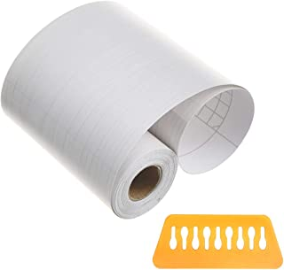 Penck Wallpaper Border Roll Waterproof PVC Self-Adhesive Stick Wall Borders White Maple Wall Waist Line Border Sticker for Covering Kitchen Bathroom Tiles Decor, Easy to Apply, 10cm x 10m