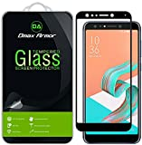 [2-Pack] Dmax Armor for Asus ZenFone 5Q [Tempered Glass] Screen Protector, (Full Screen Coverage) (Black)
