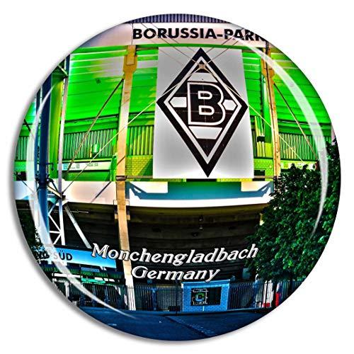 Weekino Mönchengladbach Borussia Park Deutschland Kühlschrankmagnet 3D Kristallglas Touristische Stadtreise Souvenir Collection Geschenk Starker Kühlschrank Aufkleber