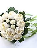 Mode Bouquet,fleurs artificielles camélia blanc chaud bouquet de mariage
