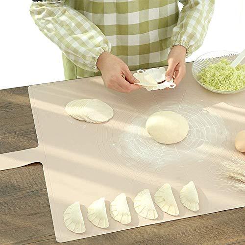 QMYS Silikon-Backmatte für Gebäck, rutschfest, antihaftbeschichtet, für Teig, Knetbrett, Brot, Fondant, Arbeitsplatte, Schutz mit Maßangaben für Pasta, Pasta, Pizza, Kekse