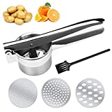 Best Potato Ricers - Potato Ricer/Vegetable Masher/Stainless Steel Fruit Press 3 in Review