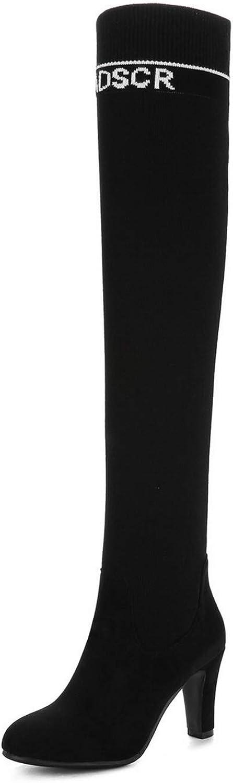 AdeeSu Womens Chunky Heels Assorted colors Wool Boots SXC03465
