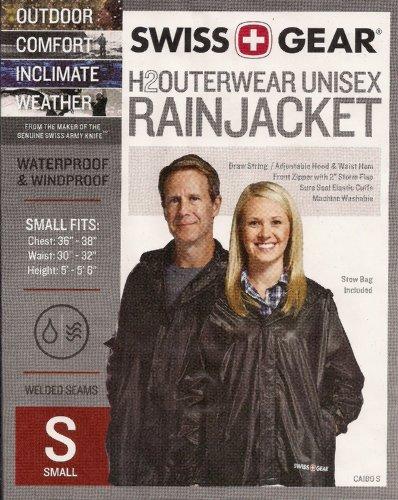 Swiss Gear H2Outerwear Unisex Rain Jacket (SMALL)