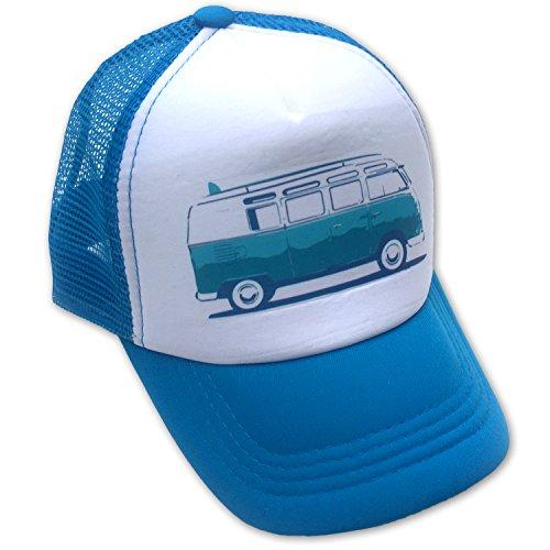 Sol Baby Surf Bus Blue Infant/Kids Trucker Hat-L-Blue