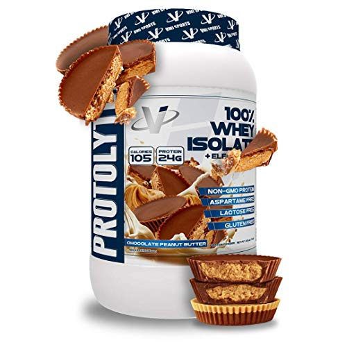 VMI Sports | ProtoLyte Whey Isolate Protein Powder | Low Calorie Whey Protein Powder for Weight Loss | Protein Powder for Muscle Gain | Digestive Enzymes (Chocolate Peanut Butter, 1.6 Pounds)