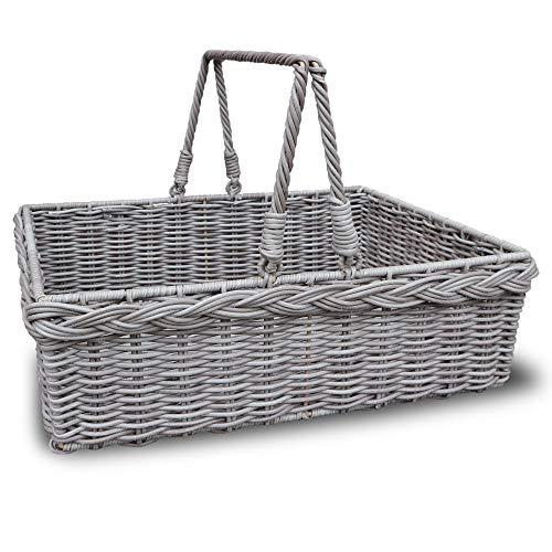 HABAU 3171 Picknickkorb, Kunststoff, grau