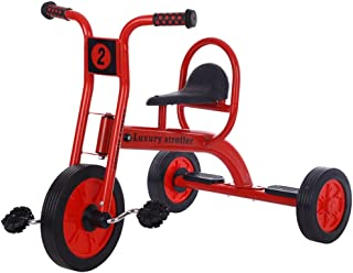 Jeterndy Children's Tricycle Boys Girls Tricycle Kids Toddler Tricycles Bike Trike 3 Wheels Kids Walking Walk for 3-12 Years Old Kids Trike (Color : Red, Size : One Size)