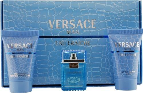 Versace Man Eau Fraiche By Gianni Versace For Men Edt .17 Oz Mini & After Shave Balm .8 Oz Mini & Shower Gel .8 Oz Mini