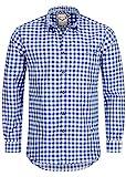 Stockerpoint Trachtenhemd OC-Franzl | kariert | modern Fit, M, Blau