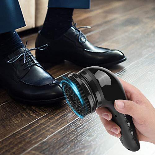USB Recargable Eléctrico Zapato Brillar Pulidora Portátil Mano Automático Limpieza De Calzado...