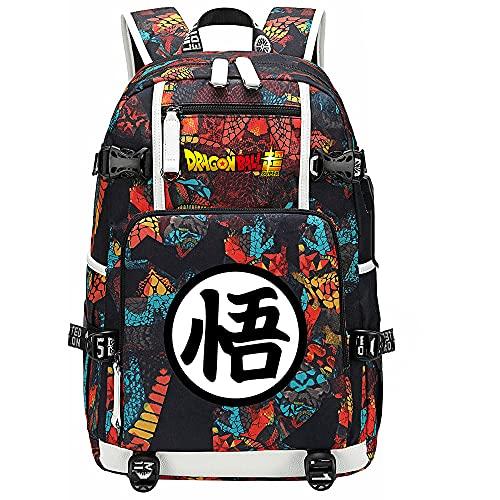 ZZGOO-LL Dragon Ball Super Son Goku/Vegeta IV/Torankusu Shoulder Bag Outdoor Backpack for Plenty of Storage Bag USB Unisex-C
