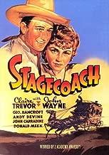 Stagecoach Movie Poster (27 x 40 Inches - 69cm x 102cm) (1939) Style B -(John Wayne)(Claire Trevor)(Thomas Mitchell)(George Bancroft)(John Carradine)(Andy Devine)