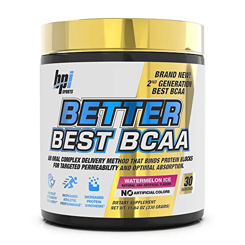 BPI Sports Better Best BCAA - BCAA Powder - All-in-One Amino Acids, Citrulline & MCT - Pre Workout for Lean Muscle Building, Muscle Recovery & Metabolism - 30 Servings 11.64 oz. (Watermelon Ice)