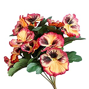 Silk Flower Arrangements YESBAY Artificial Flower Pansy Real Looking Fake Roses Artificial Foam Roses Decoration DIY for Wedding Bouquets Centerpieces,Arrangements Party Home Decorations