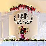 Pizarra de boda de vinilo de pared personalizada elegante monograma de boda