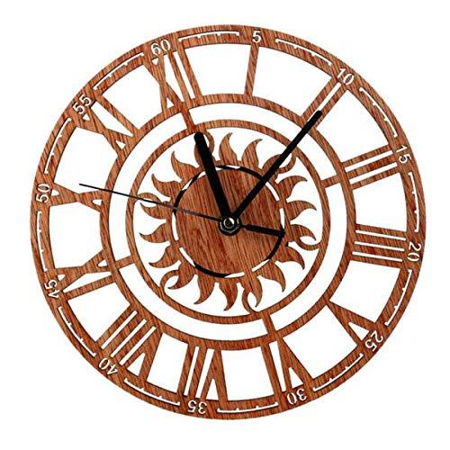 D dolity 23cm retro reloj de pared analógico reloj de cocina con...
