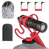 simorr Universal Video Microphone, Camera Shotgun Mic, External Microphone for iPhone Android Smartphones, for Sony for Canon DSLR - Wave S1 3288