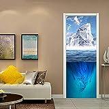 oxiang 3D Türaufkleber Eisberg Selbstklebende Wandbild