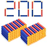 Forliver Refill Darts, 200 Pack Refill Bullets Compatible with Nerf Guns for Nerf N-Strike Elite Series Blasters Toy Guns. Kids Christmas Role Play Nerf Battle Game Gift