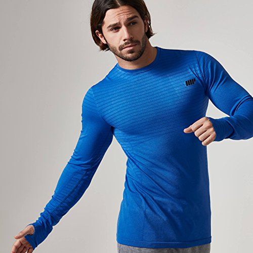 Myprotein Men's Seamless Long Sleeve t-Shirt (Royal Blu, l)