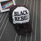 Moda Coreana Black Rebel Cappello da Baseball in Peluche da Uomo e da Donna Berretti Autunnali e Invernali