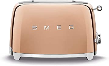 Smeg TSF01RGUS Limited Edition 50's Retro Style Aesthetic 2 Slice Toaster Rose Gold, Copper