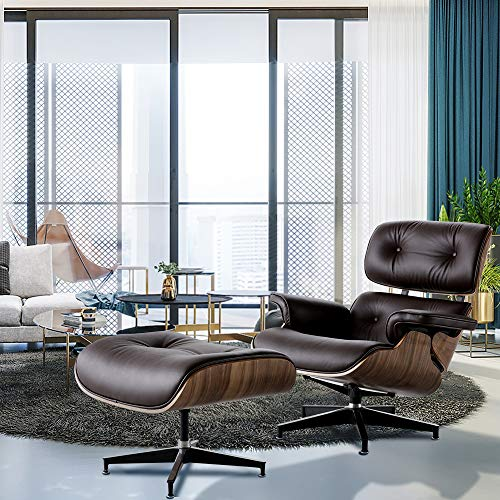 Lounge-Chair-with-Ottoman-ToMe-Mid-Century-Modern-Recliner-Chair-with-Genuine-Leather-and-Heavy-Duty-Aluminum-Base-Chaise-for-Bedroom-Living-Room-Lounge-Office-360-Degree-Swivel