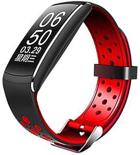 SIMPLELU Pulsera inteligente con Bluetooth, recordatorio de llamadas, pulsómetro, resistente al agua, color rojo