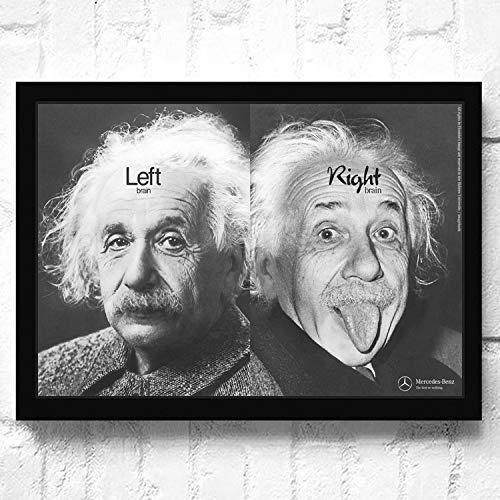 SDFSD Gran físico científico Einstein HD Life Photo Funny Picture Poster Dormitorio Decoración para el hogar Sala de Estar Pared Arte Lienzo Pintura 50 * 75 cm