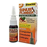 Sinus Plumber Natural Allergy Sinus Relief Decongestant Nasal Spray with Capsaicin
