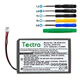 Tectra 1200mAh KCR1410 Battery for Sony Playstation 4 PS4 Pro Slim Bluetooth Wireless Dual Shock Controller CUH-ZCT2 or CUH-ZCT2U, New 2016 Version Or Newer(Small Plug)