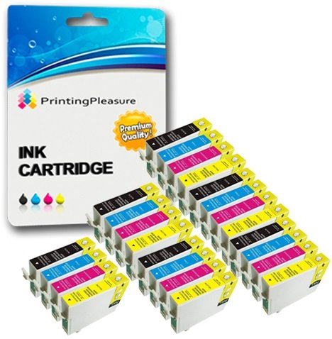24 Compatibili 16XL Cartucce d'inchiostro per Epson Workforce WF-2010W WF-2510WF WF-2520NF WF-2530WF WF-2540WF WF-2630WF WF-2650DWF WF-2660DWF WF-2750DWF - Nero/Ciano/Magenta/Giallo, Alta Capacità