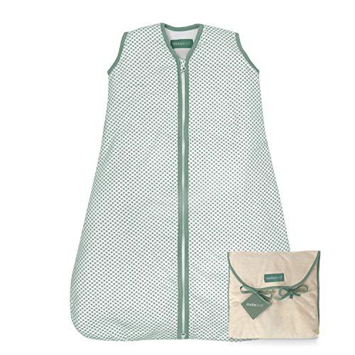 molis&co. Saco de Dormir para bebé. 1.0 TOG. Ideal para Primavera y otoño. 100% algodón orgánico (Gots).