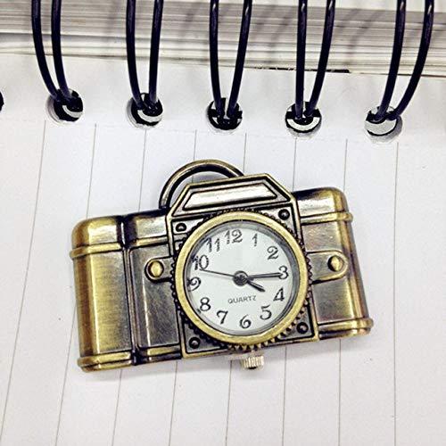 NOBRAND Pocket horloge, antieke stijl Romeinse cijfers Pocket horloge uniseks antieke bronzen camera ontwerp hanger Pocket horloge vintage hanger ketting cadeau
