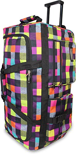 normani Reisetasche mit Teleskopgriff und verstärktem Boden Farbe Neon Square