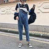 YSDSBM Jumpsuits Women Single Button Simple Elegant Ladies Denim Womens Trendy Spring Autumn Jumpsuit