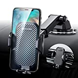 DesertWest Cell Phone Holder, Long Arm Car Phone Mount Dashboard Windshield Air Vent Universal Compatible with iPhone SE 11 Max Pro X XS Max XR 8 7, Samsung Galaxy S20 S10 S10+ S10e All Phones