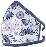 PR BAZAAR 1 x Mund-Nasen-Abdeckung, kleine Größe, 100% Baumwolle, wiederverwendbar, bei 60° waschbar, Schmetterlinge