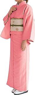 KYOETSU Women's Japanese Awase Kimono Solid Color Background Pattern (Large, 4)