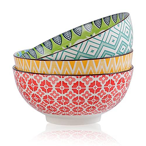 Insalatiera Ceramica - Ciotole Porcellana 1700ML- Grande Ciotola Colorate Scodella per Insalata | zuppa | Ramen | Noodle | Pasta | Macedonia | Minestr