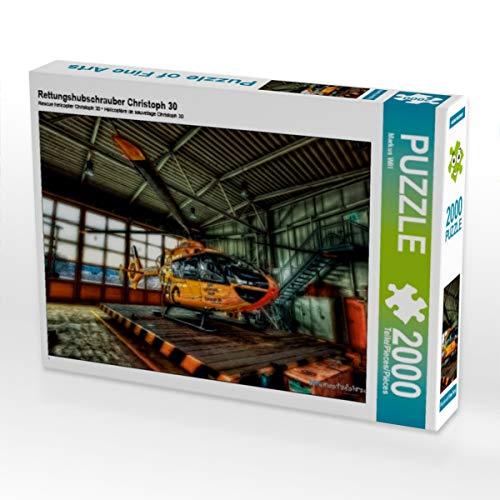 CALVENDO Puzzle Rettungshubschrauber Christoph 30 2000 Teile Lege-Größe 90 x 67 cm Foto-Puzzle Bild von Markus Will