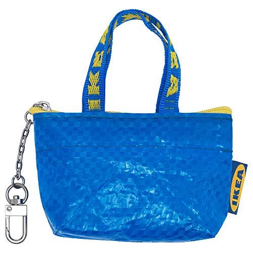 unknow Knölig Frakta IKEA Mini Tasche Tüte Reißverschluß blau+Kette für Schlüsselbund