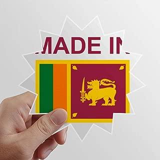 DIYthinker Made in Sri Lanka Country Love Sun Vinyl Sticker Luggage Graffiti Decal