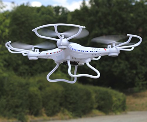 WIM-Modellbau RC Maxi UFO Quadrocopter Drohne 300 Meter REICHWEITE mit Kamera 2,4GHz