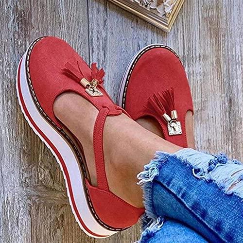 Sandalias para Mujer, Nuevas Sandalias Casual con Hebilla para Nevera, Tacón, Plataforma Plana, Verano, Sandalias Tallas Grandes para Mujer, Sandalias para Mujer, Zapatos para
