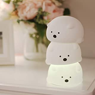 ナイトライト ベッドサイドランプ Miyasora 萌え熊ちゃん呼吸ランプ シリコンランプ 夜間ライト LEDナイトライト 常夜灯 7色変化 USB充電