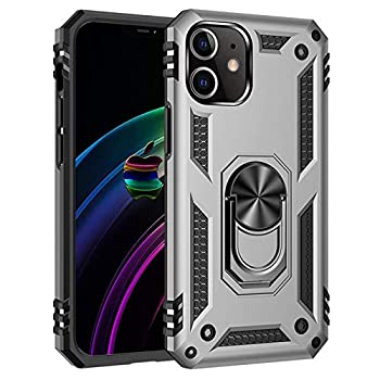 iPhone 12 Case [ Military Grade ] Drop Tested Protective Case | Kickstand | Wireless Charging | Compatible with Apple iPhone 12  Silver iPhone12 6.7 6.7